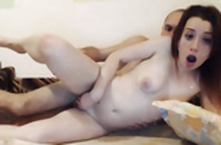 Ginger-haired diminutive jugged inexperienced plumbed on webcam