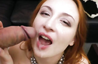 Sumptuous red-haired stunner in xxx cumpilation