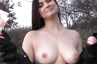 Huge-chested Pov black-haired nubile pounds for cash
