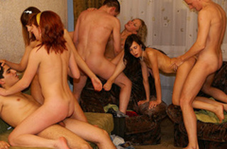 Really mind-blowing gangbang soiree hookup episode